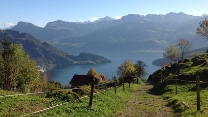 View on Vitznau and Lake Lucerne