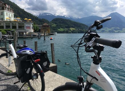 e-bikes for the tour to the 4 swiss historic hotels in Central Switzerland