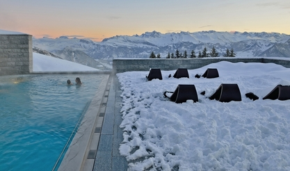 Outdoor pool at the Spa at Rigi-Kaltbad