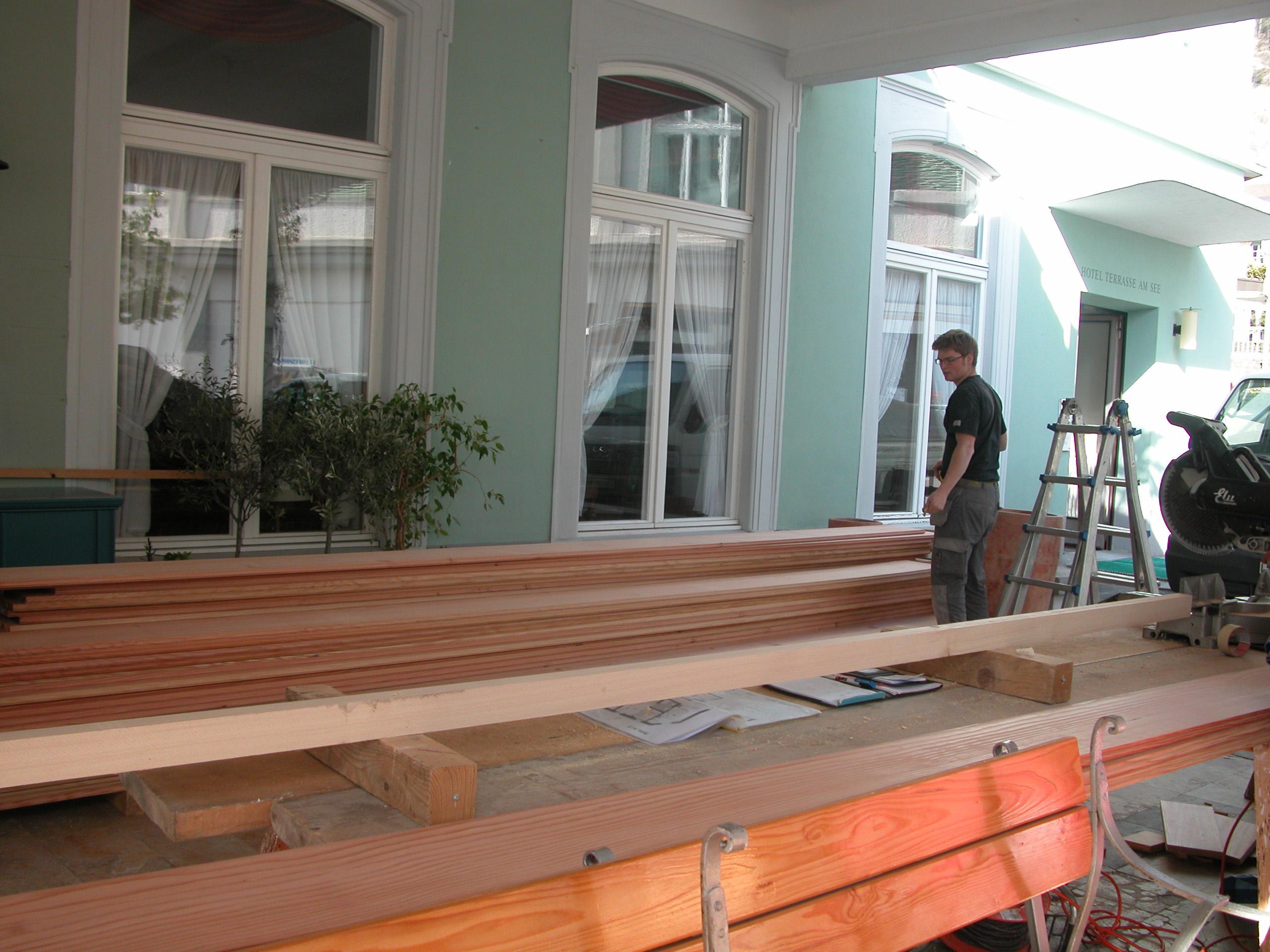 zimmer umbau 2011 hotel terrasse am see. Black Bedroom Furniture Sets. Home Design Ideas